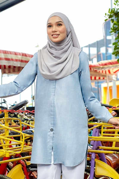 Aileen Blouse - Dusty Blue
