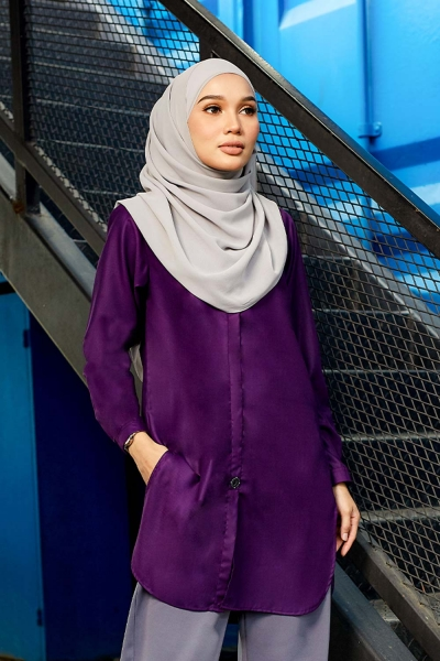 Aileen Blouse - Dark Purple