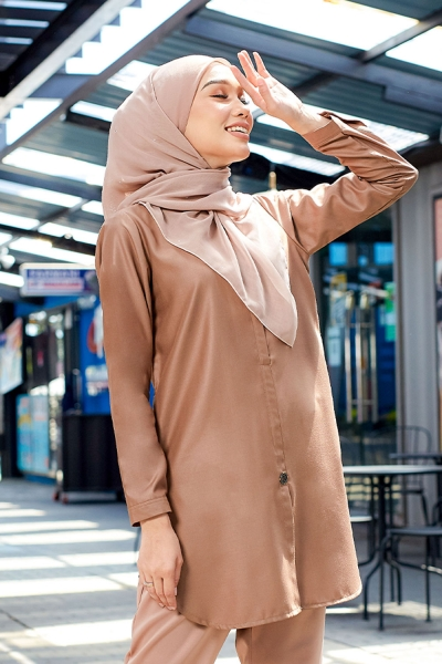 Aileen Blouse - Cocoa Brown