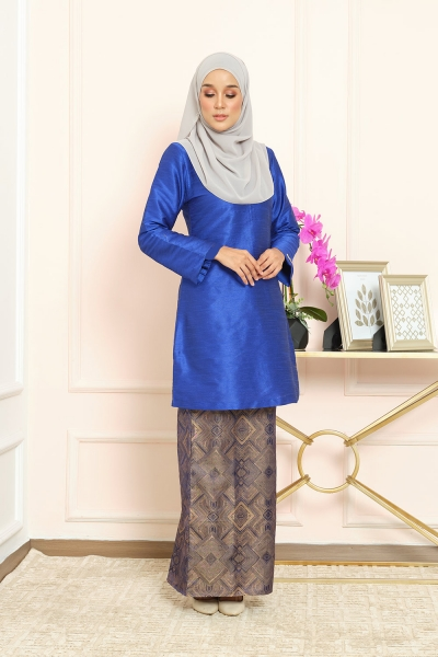 Thania Kurung Pahang - Royal Blue